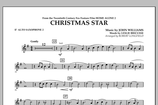 Robert Longfield Christmas Star (from Home Alone 2: Lost in New York) - Eb Alto Saxophone 2 sheet music notes and chords. Download Printable PDF.