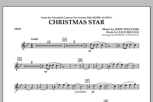 Robert Longfield Christmas Star (from Home Alone 2: Lost in New York) - Oboe sheet music notes and chords. Download Printable PDF.