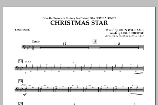 Robert Longfield Christmas Star (from Home Alone 2: Lost in New York) - Trombone sheet music notes and chords. Download Printable PDF.