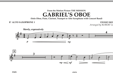 Robert Longfield Gabriel's Oboe (from The Mission) - Eb Alto Saxophone 1 sheet music notes and chords. Download Printable PDF.
