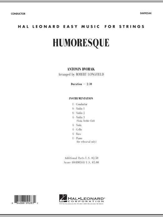 Robert Longfield Humoresque - Full Score sheet music notes and chords. Download Printable PDF.