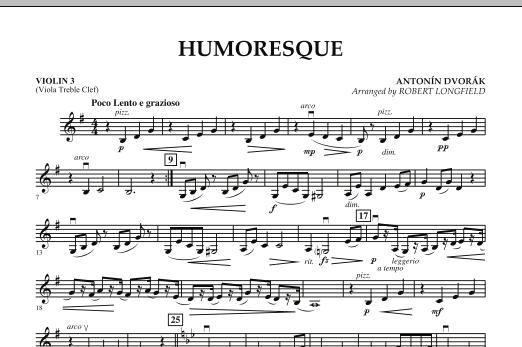 Robert Longfield Humoresque - Violin 3 (Viola T.C.) sheet music notes and chords. Download Printable PDF.