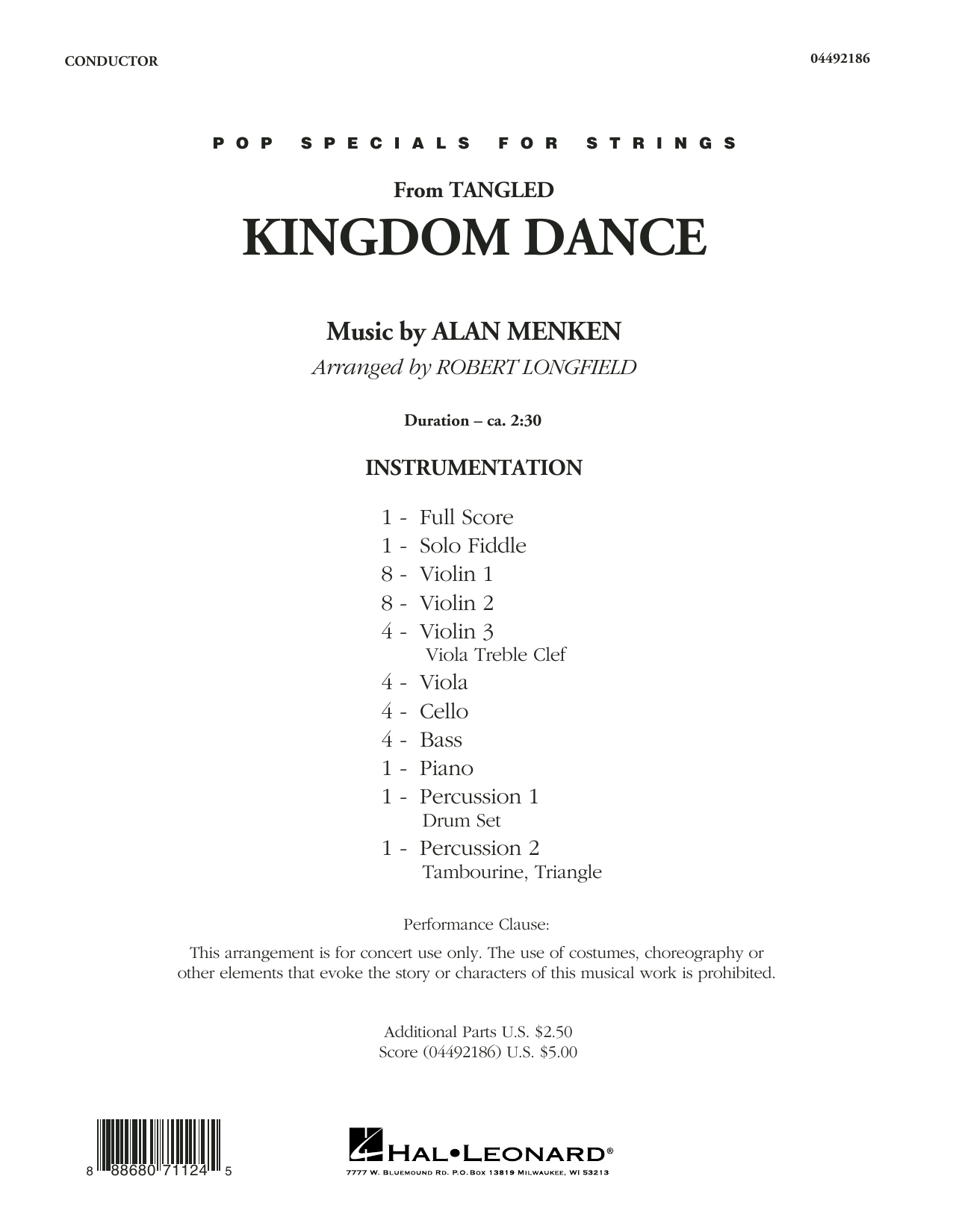 Robert Longfield Kingdom Dance (from Tangled) - Conductor Score (Full Score) sheet music notes and chords. Download Printable PDF.