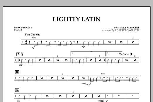 Robert Longfield Lightly Latin - Percussion 2 sheet music notes and chords. Download Printable PDF.