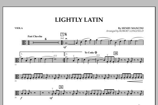 Robert Longfield Lightly Latin - Viola sheet music notes and chords. Download Printable PDF.