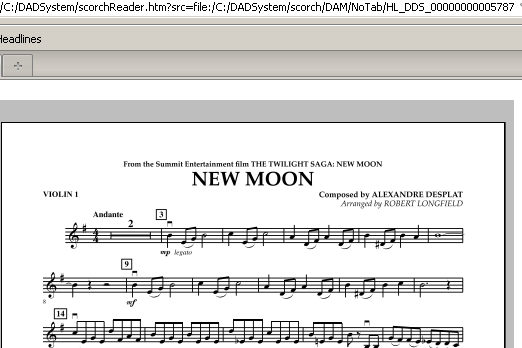 Robert Longfield New Moon (The Meadow) - Violin 1 sheet music notes and chords. Download Printable PDF.