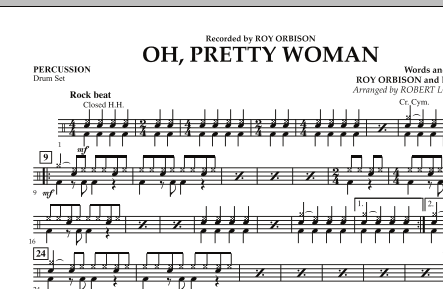 Robert Longfield Oh, Pretty Woman - Percussion sheet music notes and chords. Download Printable PDF.