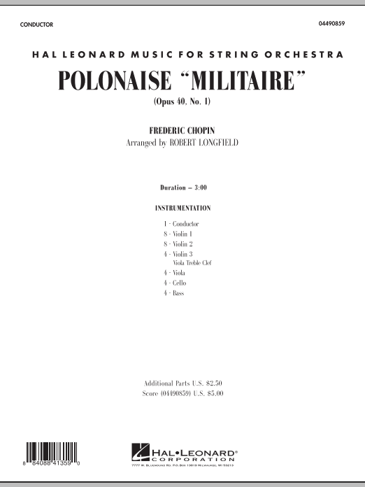 Robert Longfield Polonaise Militaire - Full Score sheet music notes and chords. Download Printable PDF.