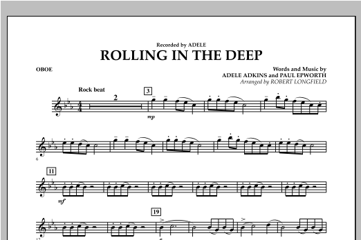 Robert Longfield Rolling in the Deep - Oboe sheet music notes and chords. Download Printable PDF.
