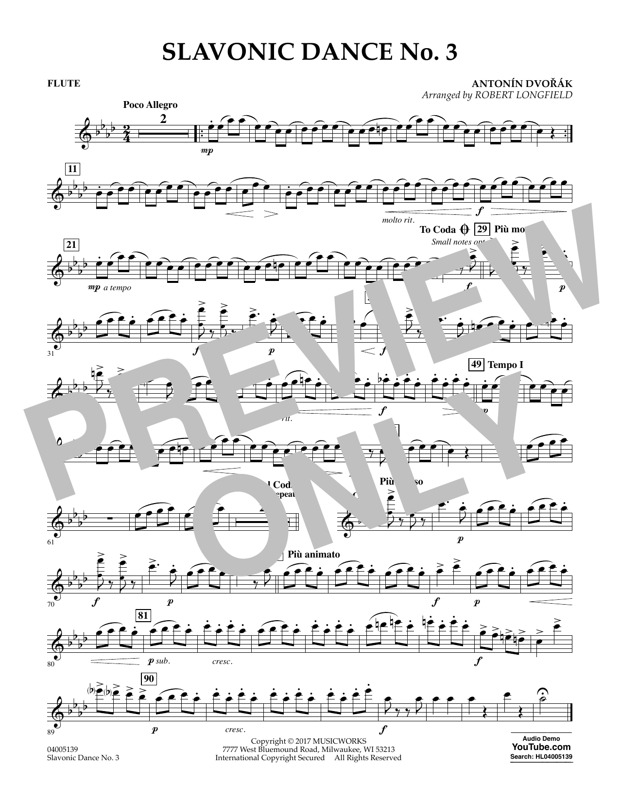 Robert Longfield Slavonic Dance No. 3 - Flute sheet music notes and chords. Download Printable PDF.