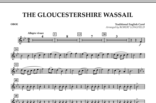 Robert Longfield The Gloucestershire Wassail - Oboe sheet music notes and chords