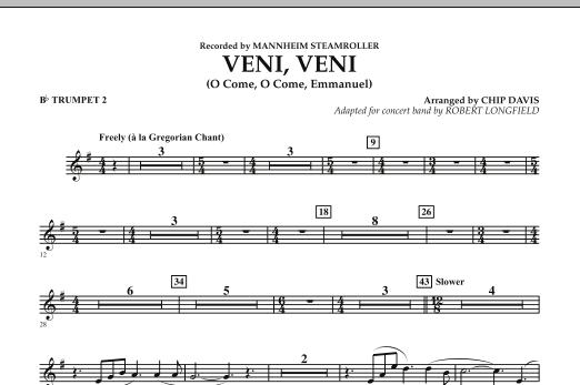 Robert Longfield Veni, Veni (O Come, O Come Emmanuel) - Bb Trumpet 2 sheet music notes and chords