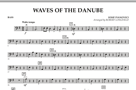Robert Longfield Waves of the Danube - Bass sheet music notes and chords. Download Printable PDF.