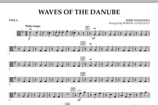 Robert Longfield Waves of the Danube - Viola sheet music notes and chords. Download Printable PDF.