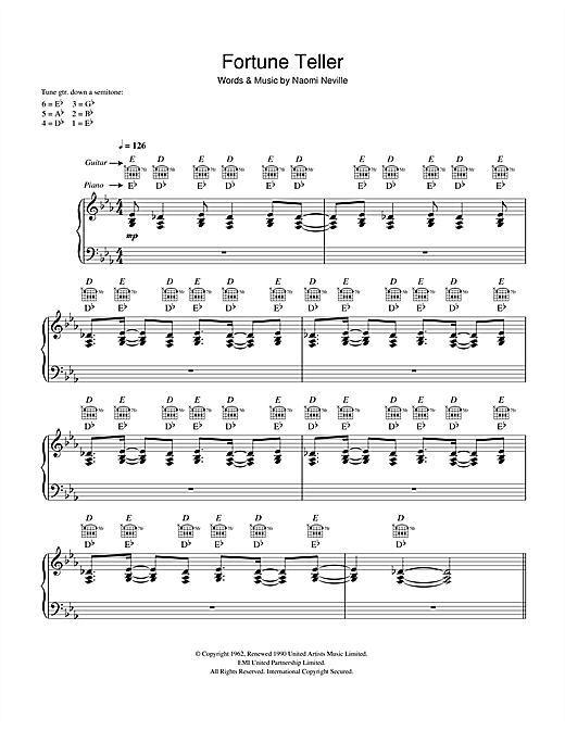 Robert Plant and Alison Krauss Fortune Teller sheet music notes and chords