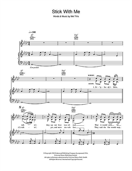 Robert Plant and Alison Krauss Stick With Me Baby sheet music notes and chords