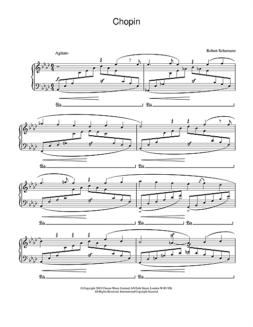 Robert Schumann Chopin sheet music notes and chords