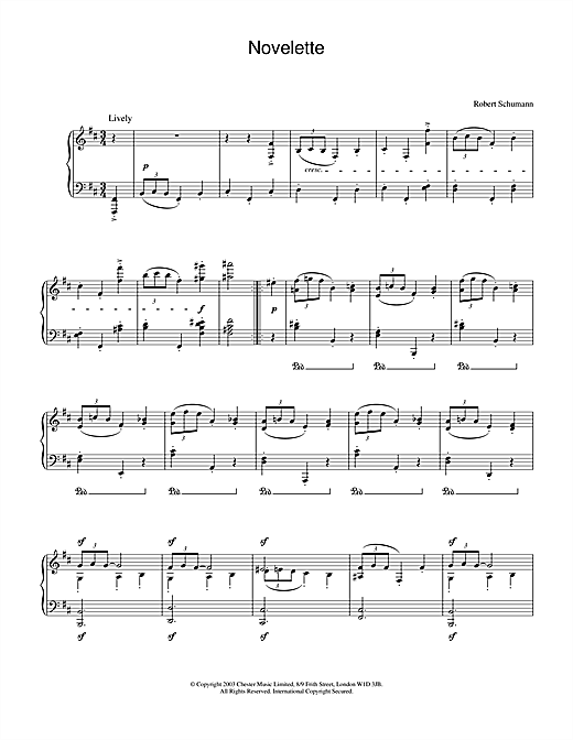 Robert Schumann Novelette sheet music notes and chords. Download Printable PDF.