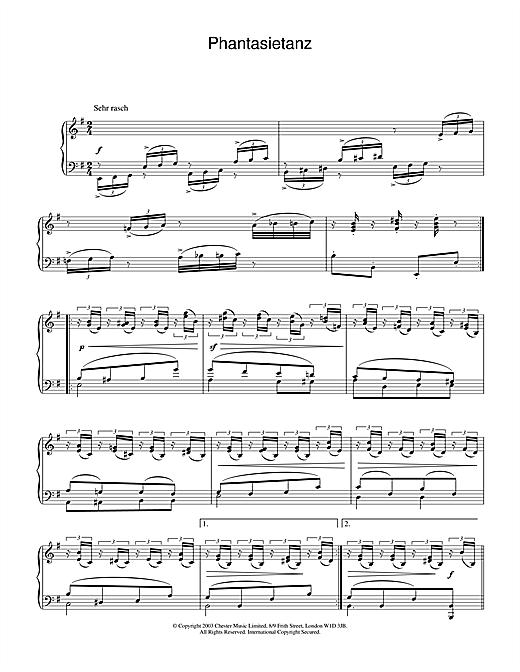 Robert Schumann Phantasietanz sheet music notes and chords