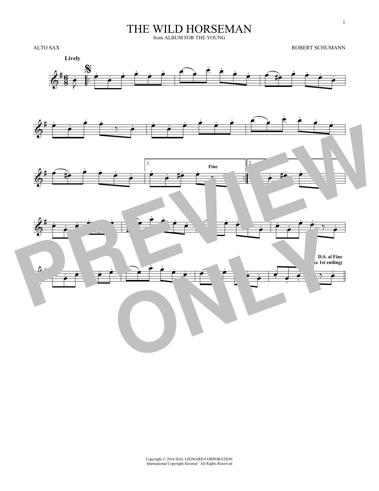 Robert Schumann The Wild Horseman (Wilder Reiter), Op. 68, No. 8 sheet music notes and chords. Download Printable PDF.