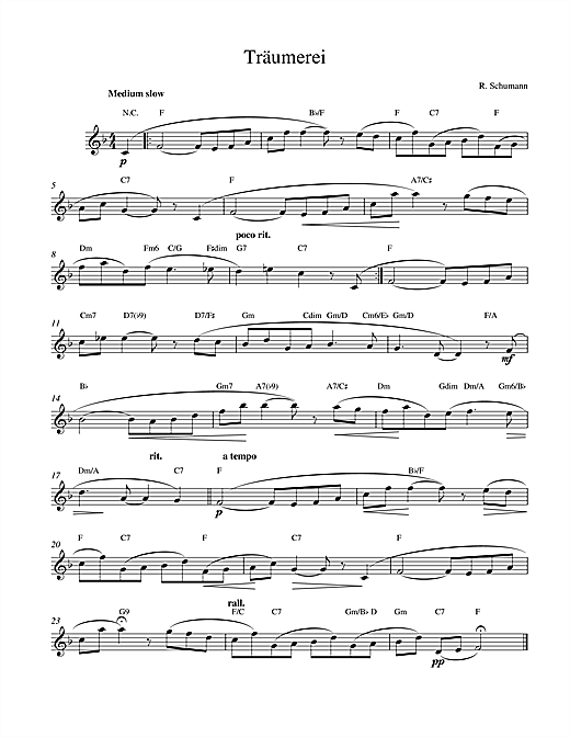 Robert Schumann Traumerei Op.15 No.7 sheet music notes and chords. Download Printable PDF.