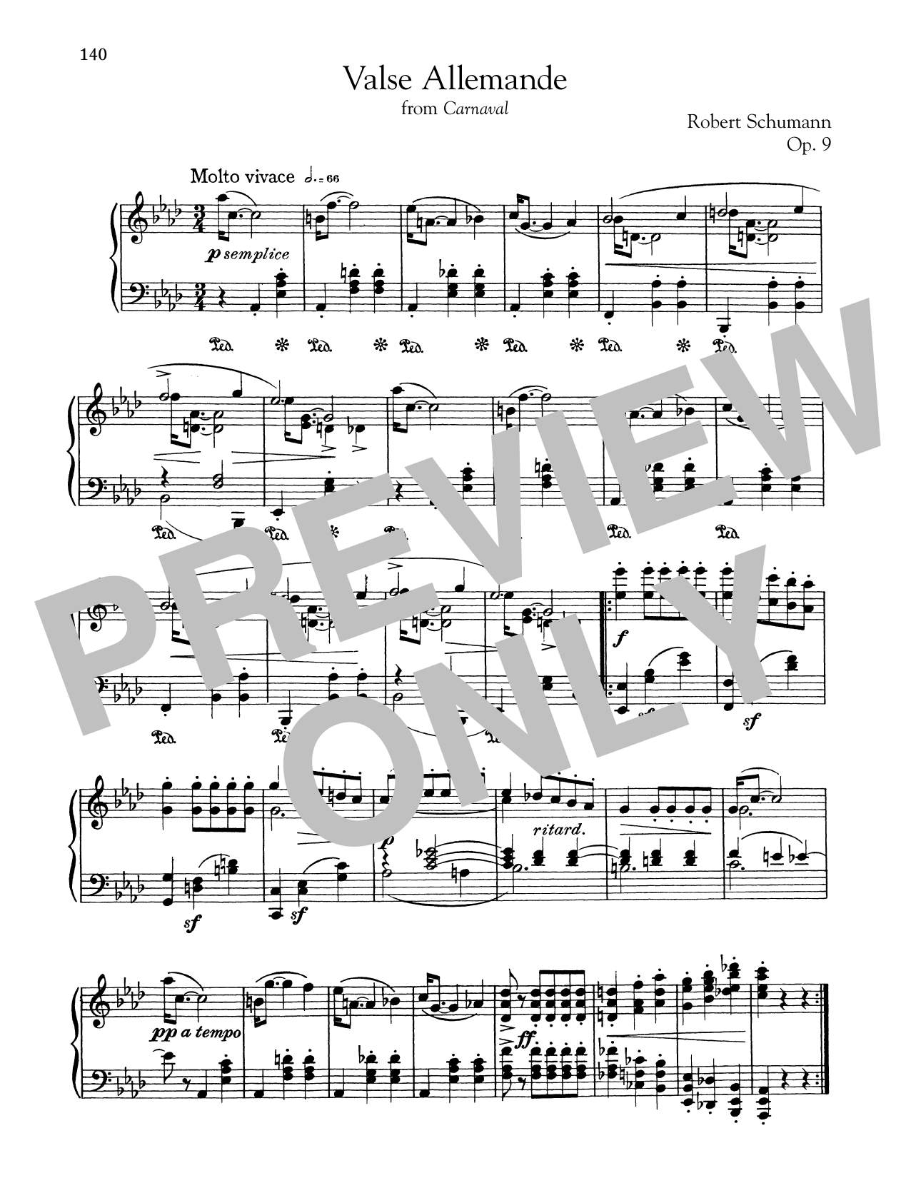 Robert Schumann Valse Allemande sheet music notes and chords. Download Printable PDF.