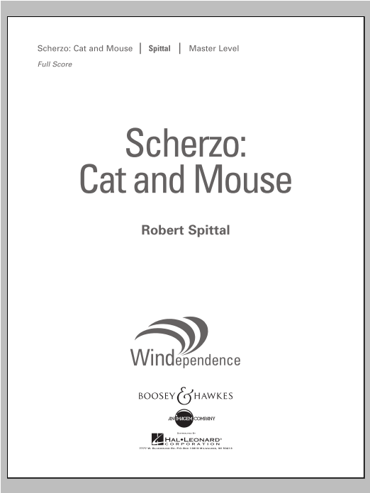 Robert Spittal Scherzo: Cat And Mouse - Conductor Score (Full Score) sheet music notes and chords. Download Printable PDF.