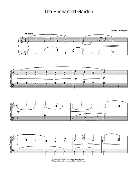 Robert Volkmann The Enchanted Garden sheet music notes and chords. Download Printable PDF.