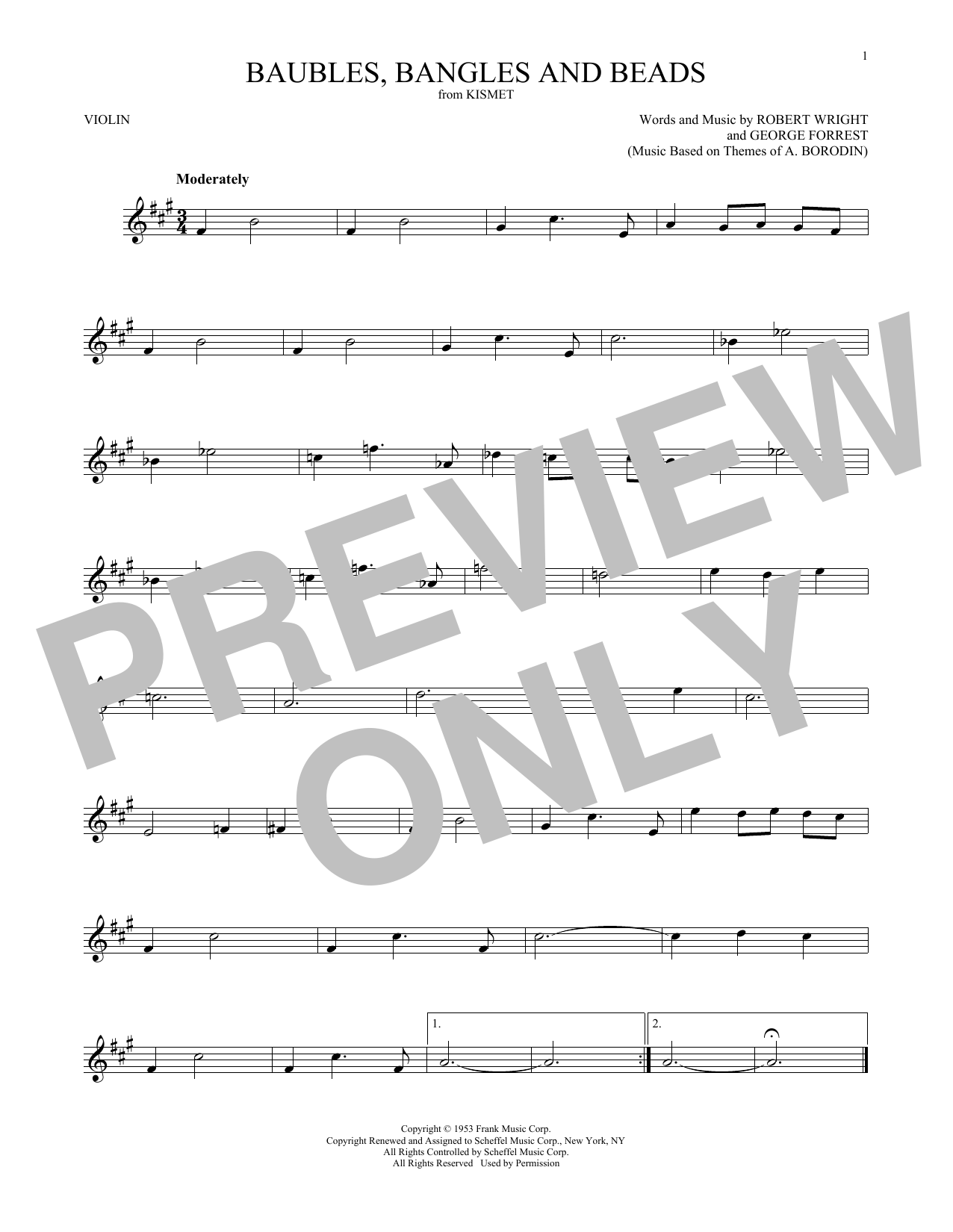 George Forrest Baubles, Bangles And Beads sheet music notes and chords. Download Printable PDF.
