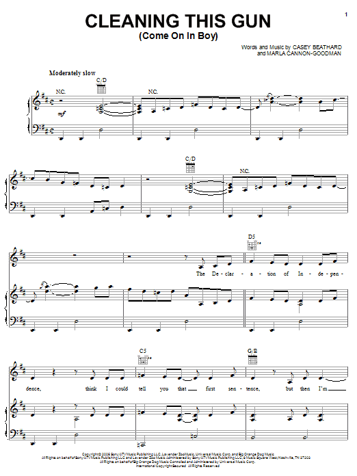 Rodney Atkins Cleaning This Gun (Come On In Boy) sheet music notes and chords. Download Printable PDF.