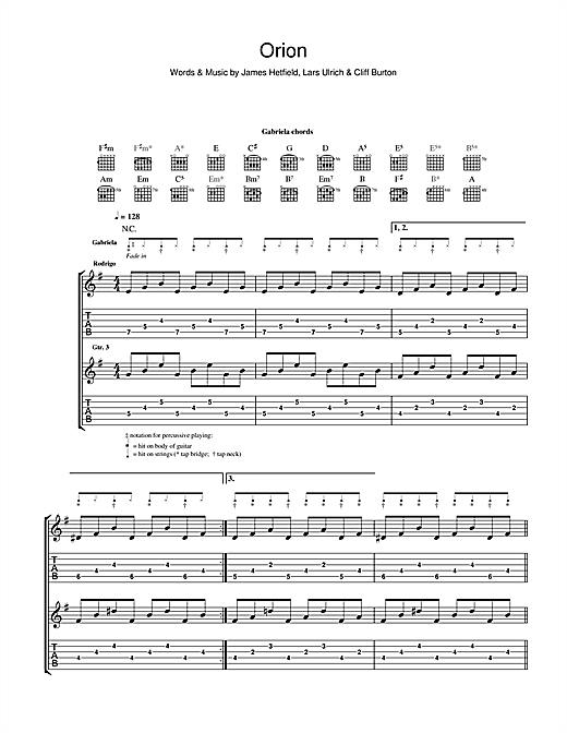 Rodrigo y Gabriela Orion sheet music notes and chords. Download Printable PDF.