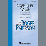 Download Roger Emerson 'Stopping By Woods' Printable PDF 15-page score for Poetry / arranged SATB Choir SKU: 433505.
