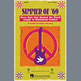 Download Roger Emerson 'Summer of '69 - Three Days That Rocked the World' Printable PDF 63-page score for Pop / arranged 2-Part Choir SKU: 420973.