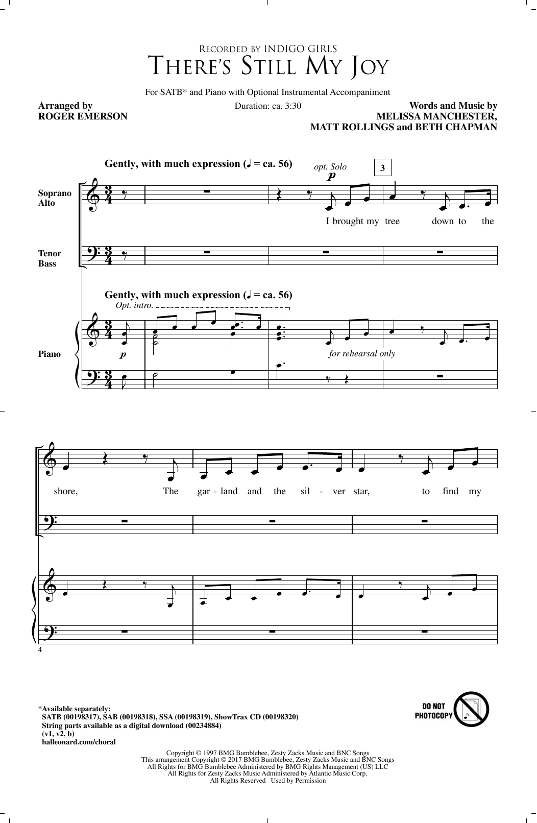 Roger Emerson There's Still My Joy sheet music notes and chords. Download Printable PDF.