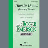 Download Roger Emerson 'Thunder Drums' Printable PDF 11-page score for Festival / arranged 3-Part Mixed Choir SKU: 407411.