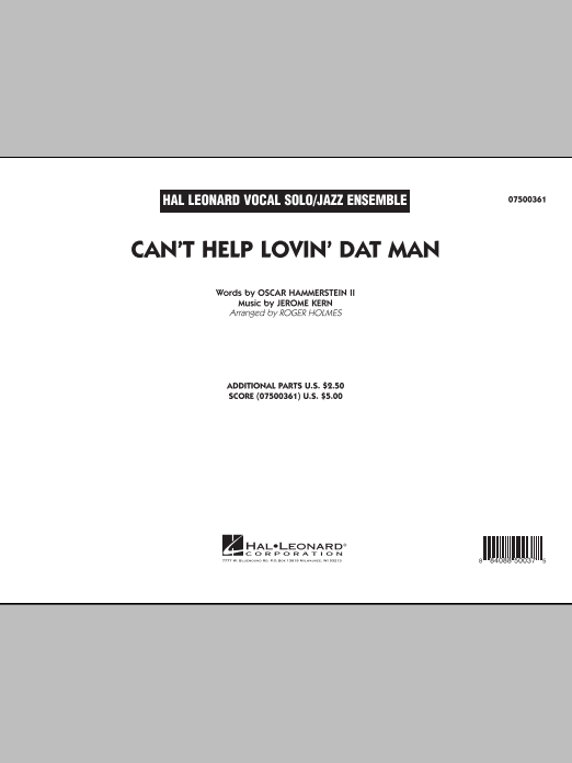 Roger Holmes Can't Help Lovin' Dat Man - Full Score sheet music notes and chords. Download Printable PDF.