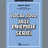 Download or print Roger Holmes Santa Baby - Alto Sax 1 Sheet Music Printable PDF 2-page score for Christmas / arranged Jazz Ensemble SKU: 308052.