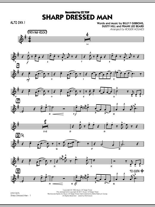 Roger Holmes Sharp Dressed Man Alto Sax 1 Sheet Music Pdf Notes Chords Jazz Score Jazz Ensemble Download Printable