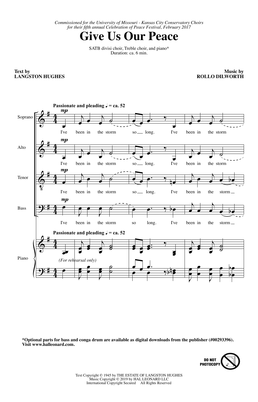 Rollo Dilworth Give Us Our Peace sheet music notes and chords. Download Printable PDF.