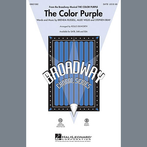 Easily Download The Color Purple (Musical) Printable PDF piano music notes, guitar tabs for SAB Choir. Transpose or transcribe this score in no time - Learn how to play song progression.