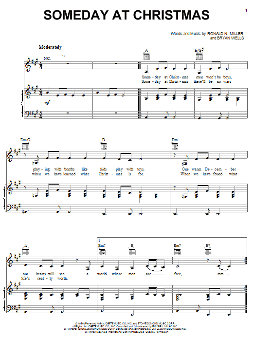 Ronald N. Miller Someday At Christmas sheet music notes and chords. Download Printable PDF.