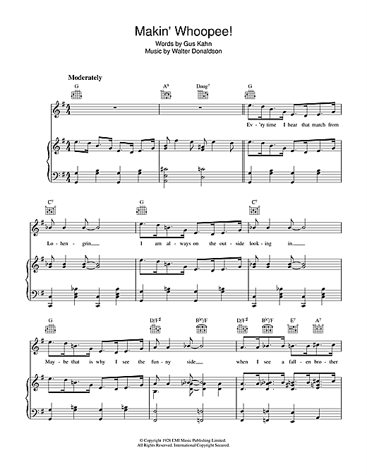Rosemary Clooney Makin' Whoopee sheet music notes and chords. Download Printable PDF.