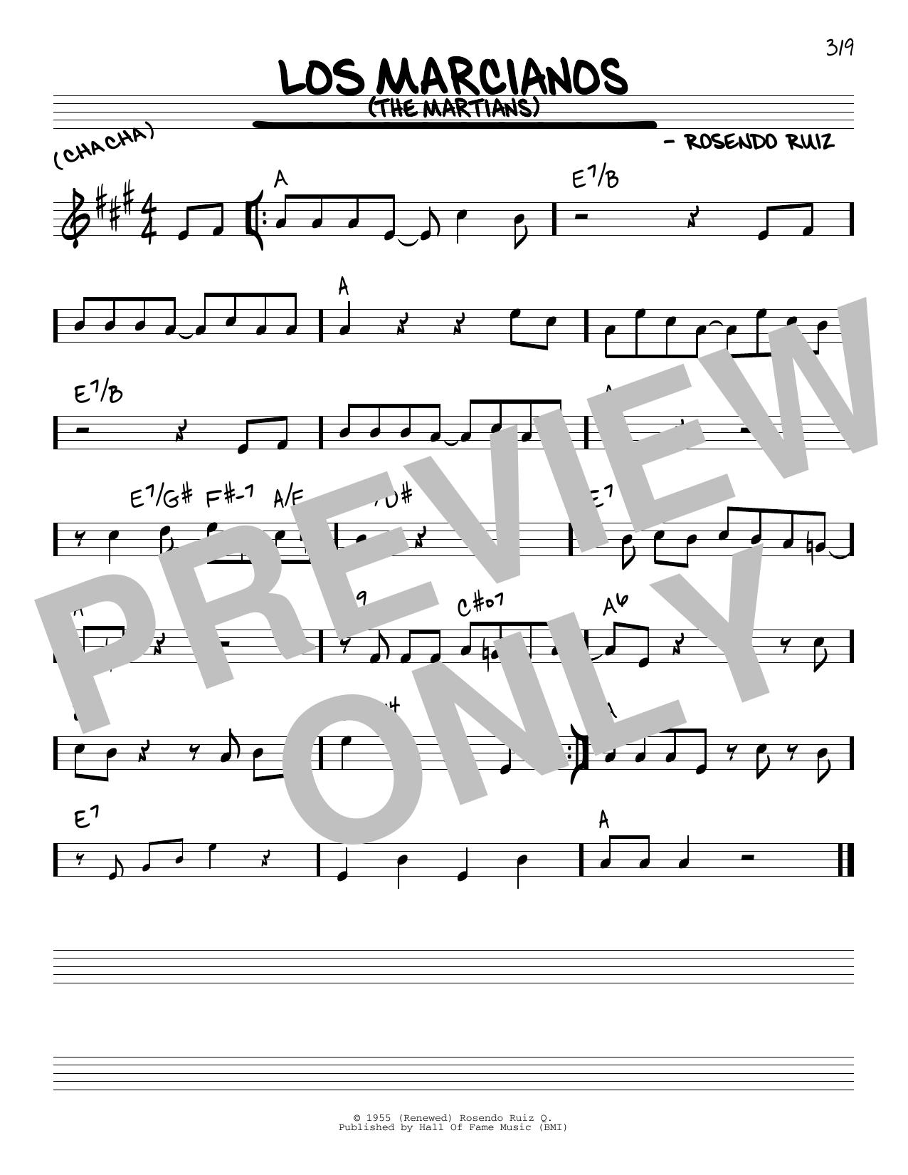 Rosendo Ruiz Los Marcianos (The Martians) sheet music notes and chords. Download Printable PDF.