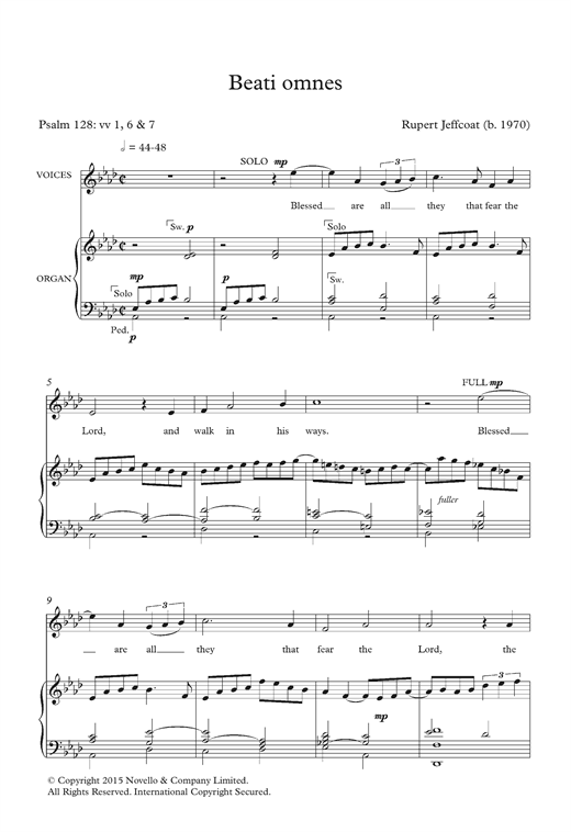 Rupert Jeffcoat Beati Omnes sheet music notes and chords