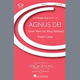 Download Rupert Lang 'Agnus Dei' Printable PDF 4-page score for Concert / arranged Unison Choir SKU: 70894.