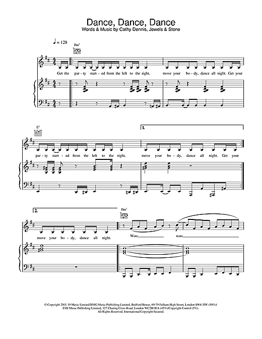 S Club 7 Dance, Dance, Dance sheet music notes and chords
