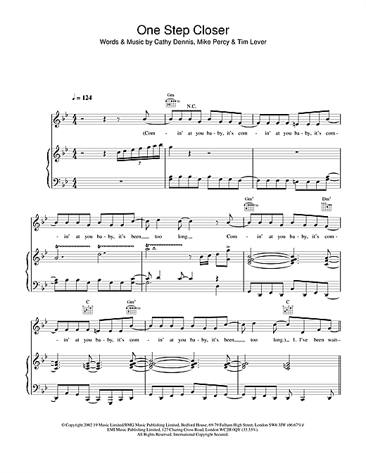 S Club Juniors One Step Closer sheet music notes and chords. Download Printable PDF.