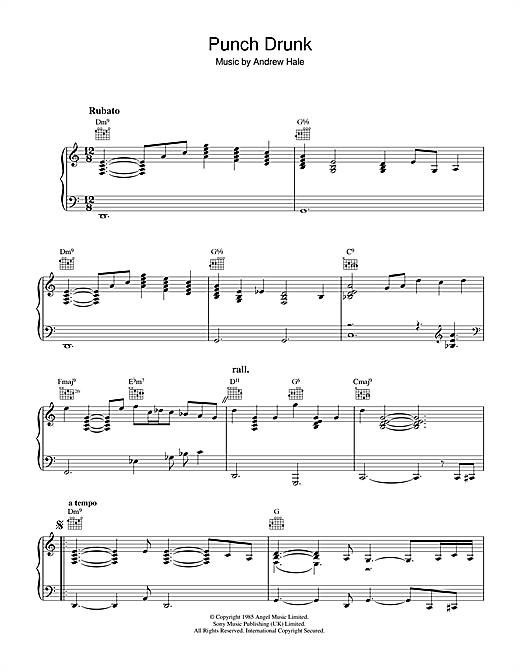 Sade Punch Drunk sheet music notes and chords. Download Printable PDF.