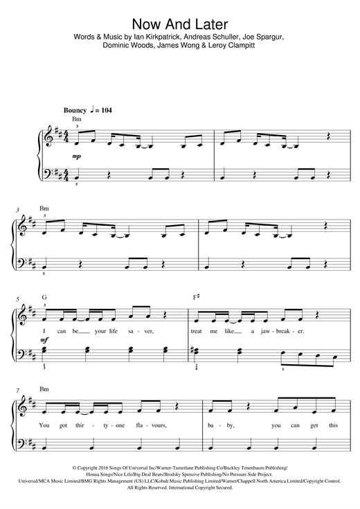 Sage the Gemini Now And Later sheet music notes and chords. Download Printable PDF.