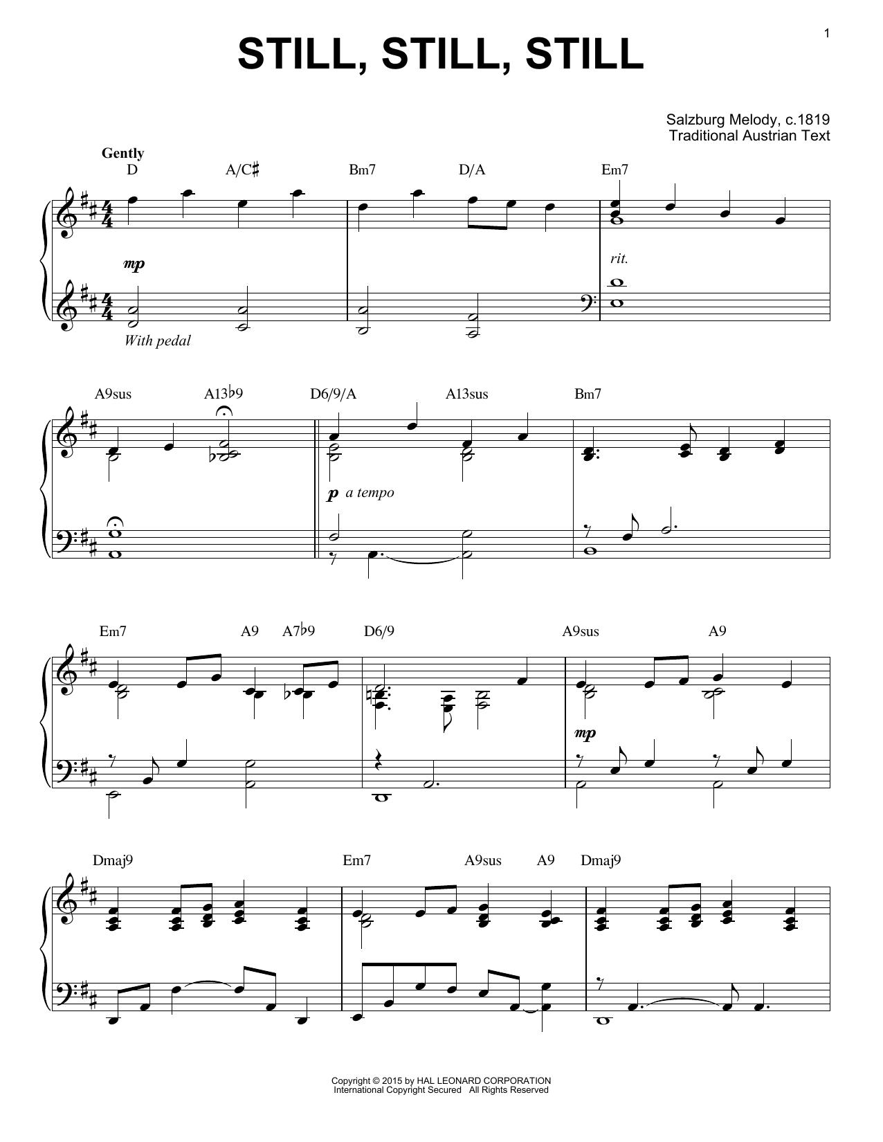 Salzburg Melody c.1819